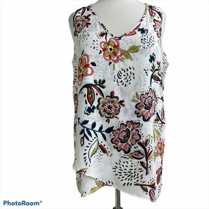 Chelsea & Theodore floral tunic top large
